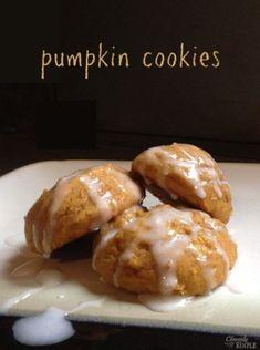 Fluffy pumpkin cookies!  Yum!