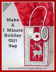 [Video] CTMH Cricut Artbooking- Make a 7 Minute Christmas Gift Bag!