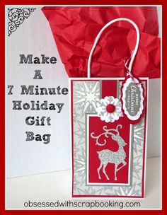 abec36d37de4  Video  CTMH Cricut Artbooking- Make a 7 Minute Christmas Gift Bag!