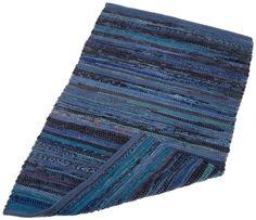 Home Essentials Rag Rug for Kitchen Blue Laundry/Utility Room #RagRug 16$