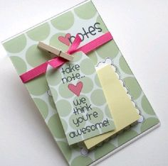 """Another useful gift for your staff! We bought our staff notebooks & pens, added a tag that said """" Take a note, we appreciate all you do! """""""