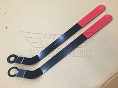 Accessory Drive Belt Tool for all MINIs 2007-2013 R55 R56 R57 R58 R59 R60 R61 Cooper, Cooper S, Clubman, Countryman, Paceman, Roadster, Coupe. These belt tools work on all MINI Cooper N12 or N16 engines and MINI Cooper S N14 or N18 Engines. If you need to replace your drive belt or remove it for service these tools make life so much simpler. These are s...