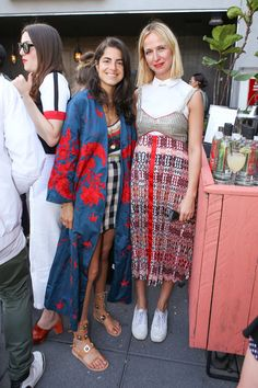 Leandra Medine and Misha Nonoo and The Boundaries of Being a Female Role Model panel - Patterns on patterns on patterns
