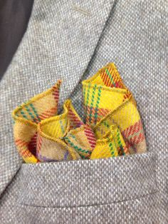 Tweed handkerchief / pocket square by Eadaigh on Etsy, €15.00