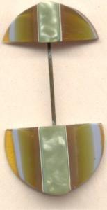 Bakelite Layered Hatpin Ceulloid (Image1)