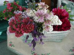 Hawthorne, Lilac, Bee Balm, Lavender, Columbine, Forget-Me-Not, Peony