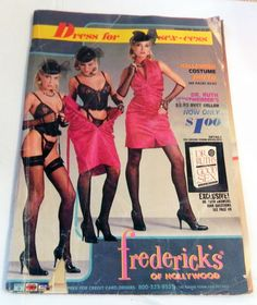 83365dbd86 1980s 1985 Fredericks of Hollywood Lingerie Catalog Sexy Risque fashion  magazine vintage sex