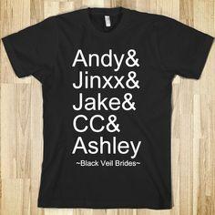 Black Veil Brides Shirts | black-veil-brides-names.american-apparel-unisex-fitted-tee.black ...