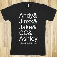 Black Veil Brides Shirts | black-veil-brides-names.american-apparel-unisex-fitted-tee.black ...
