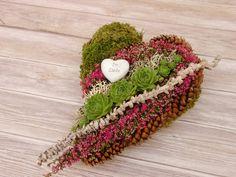 Weiteres - Grabgestecke Allerheiligen Grabgesteck Herz - ein Designerstück von missbellflower bei DaWanda