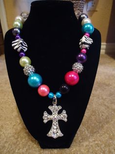 Multi Colored Chunky Cowgirl Bling Necklace by lihlenfeldt on Etsy, $20.00