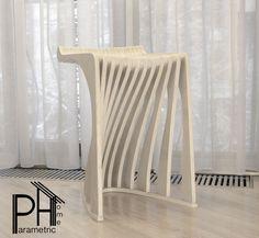 Стул Барный белый 620мм , параметрический дизаин ,Chair Bar white 620mm, parametric design Cardboard Chair, Diy Cardboard Furniture, Plywood Furniture, Cool Furniture, Furniture Design, Parametric Design, Lounge Seating, 3d Prints, Furniture Inspiration