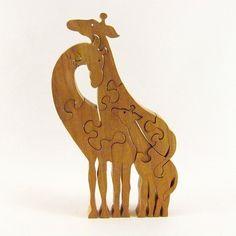 Giraffe Family Wood Puzzle