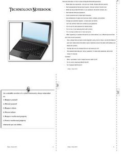Technology Notebook - Tabbed Booklet - Printable - PDF