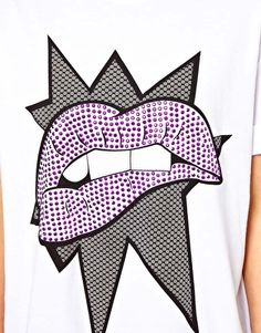 Pop Art Lips Print