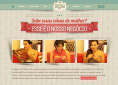 http://www.negociodemulher.com.br #webdesign #texture #ribbon