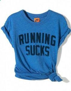 T shirt Nike. YEP. my type of work out shirt. Its honest. ;)