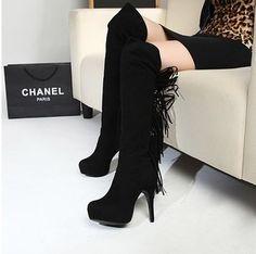 2012 Autumn Fashion Waterproof Tassels Boots