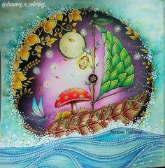 Ship enchanted forest by Karine Calabra