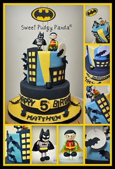 Absolutely ADORE this Batman cake by Sweet Pudgy Panda!! Every single detail is perfection!