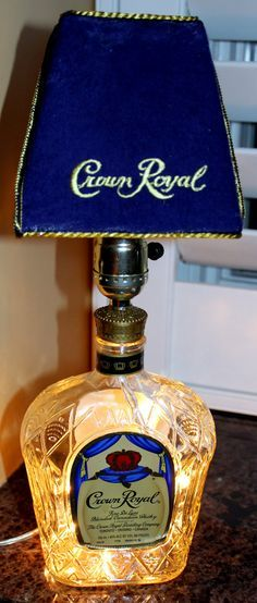 Crown Royal Glass  Bottle Lamp by LitBottles on Etsy, $55.00