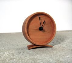 Cherry Wood Clock  Solid wood clock by offcutstudio on Etsy, $80.00