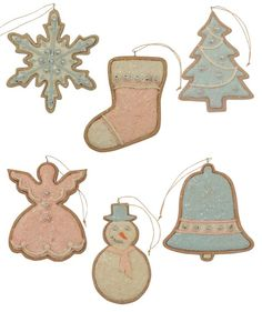 Pastel Cookie Ornaments | Sugar Cookie Christmas Ornaments