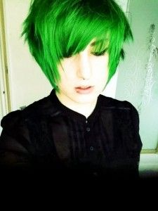 bright green via Hair Color Ideas