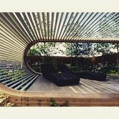 Seats - brilliant garden design concepts: the ultimate guide to successful picture book and design of seats - House Designs Exterior Veranda Pergola, Outdoor Pergola, Outdoor Rooms, Outdoor Gardens, Outdoor Living, Outdoor Decor, Pergola Kits, Modern Pergola, Ideas Terraza
