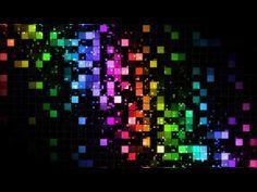 著作権フリー 映像素材 動画素材 デジタル グリッド ネオン LED Ab10