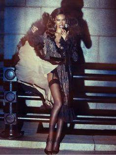 The Wonderland Magazine Chanel Iman Pictorial Flashes Tom Ford Fashion #feathers #fashion trendhunter.com