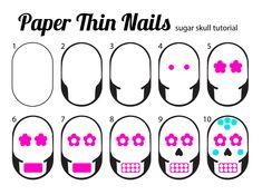 sugar skull nail art tutorial