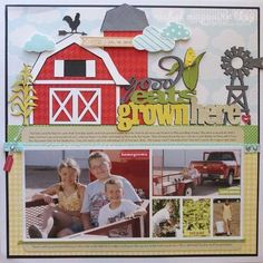 Good Eats Grown Here Layout by Nichol Magouirk (via Jillibean Soup blog - Soup Spotting).  LOVE all the diecuts Nichol created here!