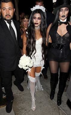 Kourtney Kardashian from The Big Picture: Today's Hot Pics  Zombie bride!  The TV personality arrives at a Halloween party at Bootsy Bellows in West Hollywood.