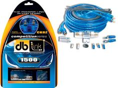 DB Link CK8Z 8 Gauge Competition Series 17-Feet Amplifier Installation Kit (Blue). 17 Feet 18 AWG Blue Remote Wire. 50 Amp AGU Gold Plated Fuse, 6 Feet Split Loom. 3 Feet 8 AWG Translucent Silver LinkFlex Ground Cable. 6 Feet Split Loom. AGU Heat Resistant Fuse Holder. 17 Feet Competition Series RCA Cable LinkFlex Ground Cable. 50 Amp AGU Gold Plated Fuse. 25 Feet 16 AWG Speaker Wire. 17 Feet 8 AWG Translucent Blue LinkFlex Power Cable. Wire Ties & Accessories.