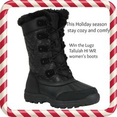 Enter to #Win comfortable Tallulah HI WR #womensboots #Holidays #Giveaway #Shoes by #LugzBoots #ad