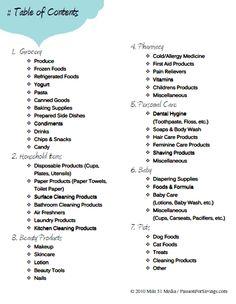 Coupon Binder Category Sheets -- I'm redoing my coupon binder