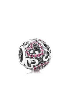 Pandora Charm - Sterling Silver & Cubic Zirconia Falling in Love, Moments Collection
