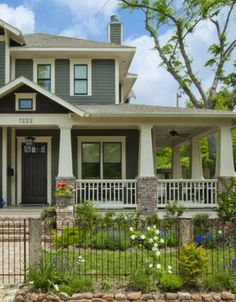 Is the Gray Home Decorating Trend Here to Stay? | House, Curb appeal Craftsman Exterior House Design El E A on