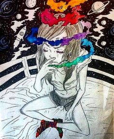 provocative-planet-pics-please.tumblr.com Smoking. #psychedelic #psyche #psych #psychedelicart #art #draw #draws #drawing #drawings #smoke #smoking #girl #escape #moon #sky #stars #universe #mind #calm #cool #planets #weed #bed #time #happyshinyhippie by happyshinyhippie https://www.instagram.com/p/BAFYPa1wytX/