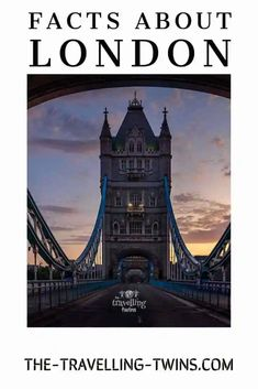 27 Fascinating facts about London -The Travelling Twins Interesting Facts About London, Fascinating Facts, London Bridge, Tower Of London, City Quotes, London University, Black Cab, Travel General, London Underground