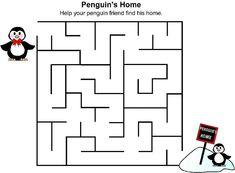 Printable Mazes for Kids. Mazes For Kids Printable, Printable Math Worksheets, Worksheets For Kids, Kindergarten Worksheets, Indoor Activities For Kids, Math For Kids, Preschool Activities, Montessori Preschool, Puzzles Für Kinder
