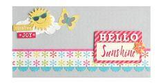 Hello Sunshine Card idea using Creative Memories Products