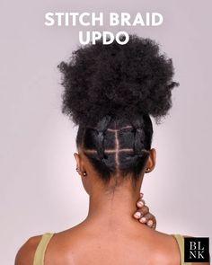 The Stitch Braid Updo The Stitch Braid Updo Diamant CHEVEUX How to do a stitch braid hair bun hairtutorial braidideas braidtutorial Diamant How to do a stitch braid hair bun hairtutorial braidideas braidtutorial hellip Braided Bun Hairstyles, African Hairstyles, Afro Hairstyles, Trendy Hairstyles, Easy Black Girl Hairstyles, Type 4c Hairstyles, Natural Hair Updo, Pelo Natural, Natural Hair Styles