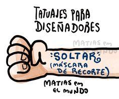 tatuajes para diseadores graficos  Matias en el mundo