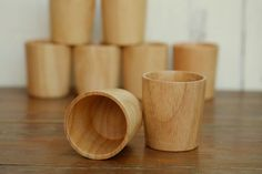 [PURCHASE 40 = $480] $12 Handmade & eco-friendly wooden drinking cup  by Thaihomeware
