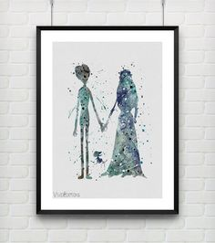 Hey, I found this really awesome Etsy listing at https://www.etsy.com/listing/219282480/tim-burtons-corpse-bride-watercolor-art