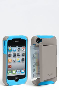 Incipio 'Stowaway' iPhone 4 case. I've had mine for a few months and I love it! Just grab my keys and go!