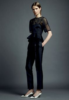 Valentino Resort 2013. I ♥ the peplum; I'm just not crazy about the permanent crease in the pants...