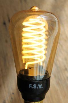 CFL light bulb - spiral. More at www.FatShackVIntage.com.au